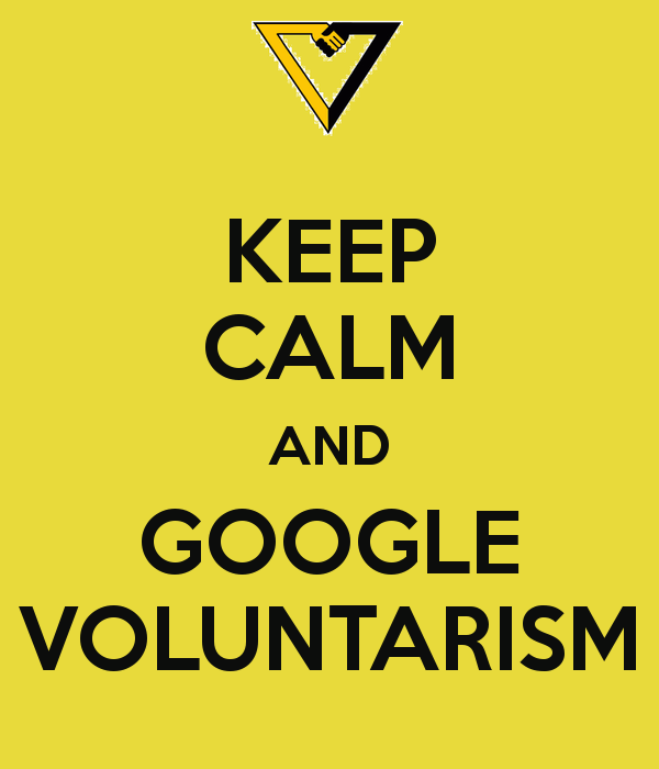 Keep calm and google voluntarism