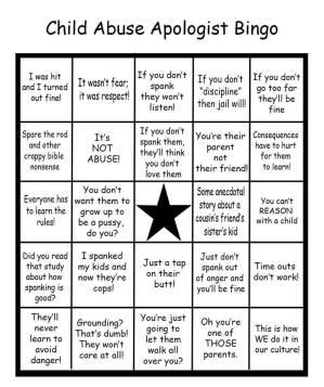 Child abuse bingo