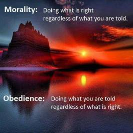 Morality vs obedience
